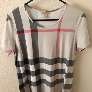 Burberry Nova check plaid t-shirt size XL